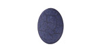 Matte Navy Blue Resin Oval Cabochon 13x18mm