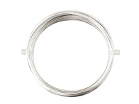 German Style Wire Silver (plated) Round 22 gauge, 10 meters