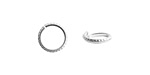 Nunn Design Sterling Silver (plated) Hammered Edge Jump Ring 10mm