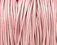 Mystique Pink (metallic) Round Leather Cord 2mm