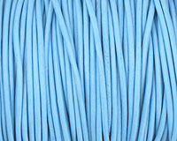 Sky Blue Round Leather Cord 2mm