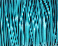 Turquoise Round Leather Cord 2mm