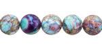 Purple & Aqua Impression Jasper Round 10mm