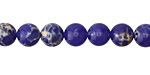 Cobalt Impression Jasper Round 8mm
