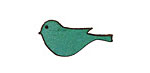 Lillypilly Sea Green Leather Small Left Facing Sparrow 13x26mm