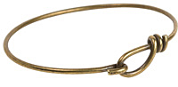 TierraCast Antique Brass Wire Bracelet w/ Hook & Eye