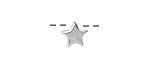 Sterling Silver Star Slide 9mm