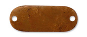 Vintaj Artisan Copper Oval 2-Hole Altered Blank 46x18mm
