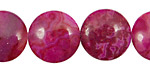 Ruby Crazy Lace Agate Puff Coin 18mm
