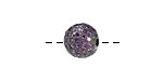 Gunmetal & Tanzanite CZ Micro Pave Round 10mm