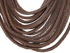 "The Lipstick Ranch Cocoa Shredded Leather Choker 17 1/4"" x 2"""
