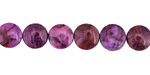 Purple Crazy Lace Agate Coin 8mm