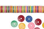 African Trade Multi Color Vinyl/Vulcanite Heishi 8-9mm