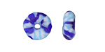 African Recycled Seed Bead Blues Donut 4-6x17-20mm