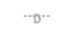 "Sterling Silver Letter ""D"" Charm Slide 6mm"