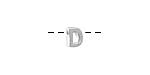 """Sterling Silver Letter """"D"""" Charm Slide 6mm"""