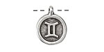 Greek Pewter Gemini Pendant 15x18mm