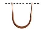 Nunn Design Antique Copper (plated) Short Open Horseshoe Wire Frame 24x30mm