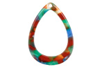 Zola Elements Lagoon Acetate Open Drop Focal 22x31mm