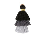 Grayscale Mix Small 3-Tiered Tassel 35mm
