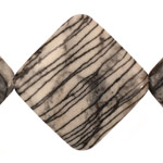 Black Water Jasper Flat Diamond 43mm