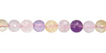 Multi Stone (rose quartz, amethyst & citrine) Faceted Round 6mm
