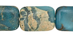 Turquoise Impression Jasper Thin Pillow 25x18mm