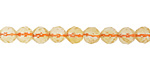 Citrine Faceted Round 6mm
