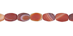 Carnelian (natural, matte) Rice 9x6mm