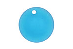 Pacific Blue Recycled Glass Concave Coin 24mm