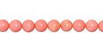 Pink Coral Round 6mm