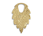 Vintaj Vogue Patterned Leaf Dangle 22x35mm