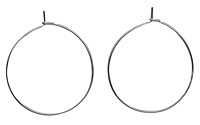Silver (plated) Hoop Earwire 30mm