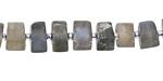 Labradorite Matte Wheel 5-7x8-10mm