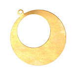 Brass Gypsy Hoop Blank 38x42mm