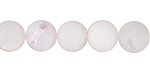 White Agate (matte) Round 10mm