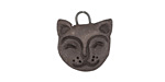 Gaea Ceramic Black Cat Charm 17x19mm