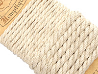 Natural Hemp Rope 4mm & 6mm, 8.5 ft total