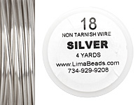 Parawire Non-Tarnish Silver 18 gauge, 4 yards