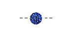 Sapphire Pave (w/ Preciosa Crystals) Round 8mm