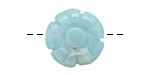 Amazonite Carved Flower 18mm