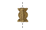 African Brass Drum (large hole) 25-28x16-19mm