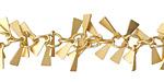 Satin Hamilton Gold (Plated) Triangle Drop Chain