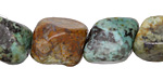 African Turquoise Tumbled Nugget 18-24x12-18mm