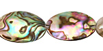 Abalone Freeform Puff Oval 17-22x13-17mm