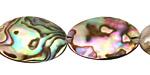 Abalone Freeform Puff Oval 17-22x13-17mm