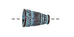 Greek Copper (plated) Patina Native Cone 17x12mm