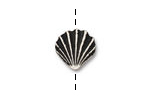 TierraCast Antique Silver (plated) Large Shell Bead 13mm