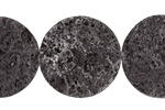 Lava Rock Rough Faced Coin 25mm