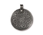 TierraCast Antique Pewter (plated) Eightfold Path Pendant 26x32mm
